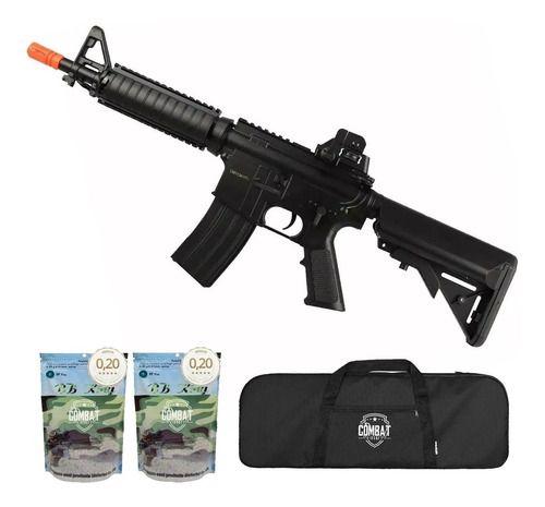 Rifle de Airsoft Elétrico AEG M4A1 CQB CYMA CM176 + Capa + 8000 BBs
