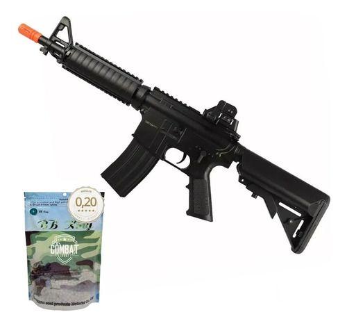 Rifle de Airsoft Elétrico AEG M4A1 CQB CYMA CM176-N + 4000 BBs