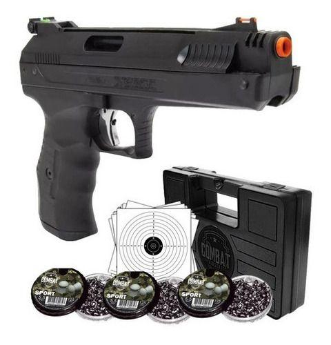 Pistola Pressão Beeman 2004 5.5m + Maleta + Chumbo + Alvos
