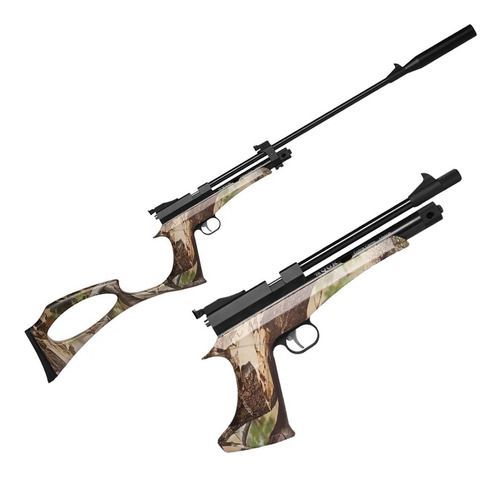 Carabina Pistola Híbrida Pressão Co2 QGK Cobra Camo 5.5mm