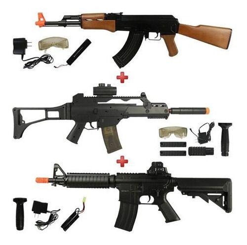 Rifles Fuzil AEG CYMA AK47 CM022 + G36 CM021 + M4 CQB CM176