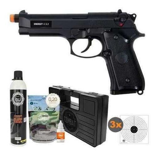 Pistola Airsoft Gbb Beretta Saigo M92 Blowback 6mm + Acessórios