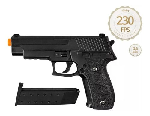 Pistola Airsoft Galaxy G26 Full Metal Spring - Mostruário