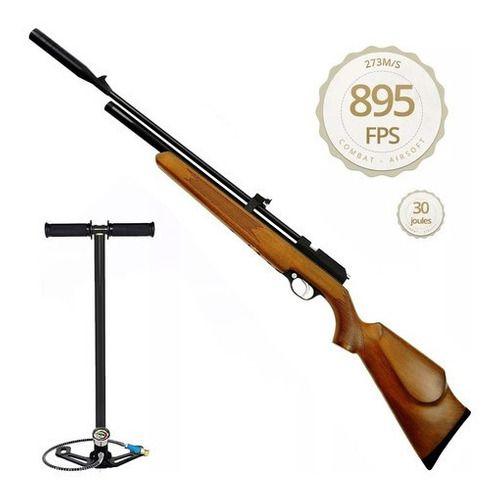 Carabina De Pressão Espingarda Pcp Artemis Pr900w 5.5mm + Bomba Manual