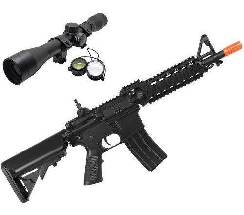 Rifle Airsoft M4A1 Cyma CQB Ras CM505 6mm  + Luneta 4x32