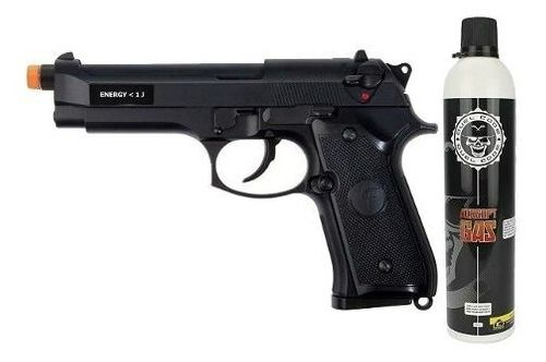 Pistola Airsoft Gbb Beretta Saigo M92 Blowback 6mm + Greengás