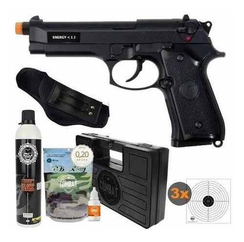 Pistola Airsoft Beretta Saigo M92 Blowback + Kit Completo