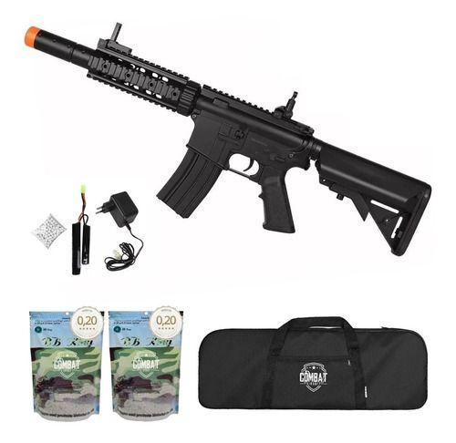 Rifle Elétrico Bivolt Airsoft Cyma M4a1 Cm513 + Capa + Bbs