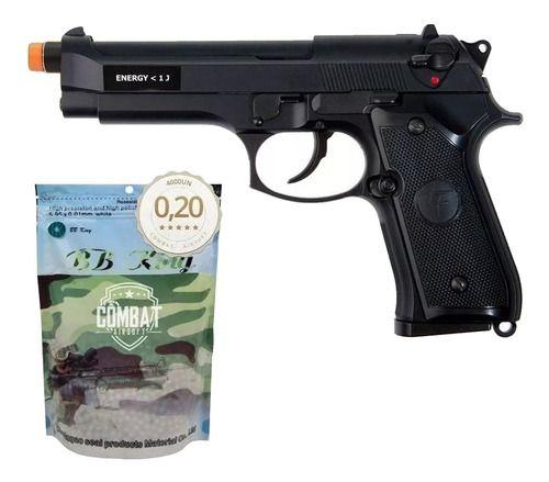 Pistola Airsoft Gbb Beretta Saigo M92 Blowback + 4000 Bbs