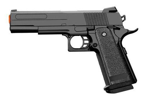 Pistola 1911 Airsoft 6mm Slide Metal Spring V306 Black