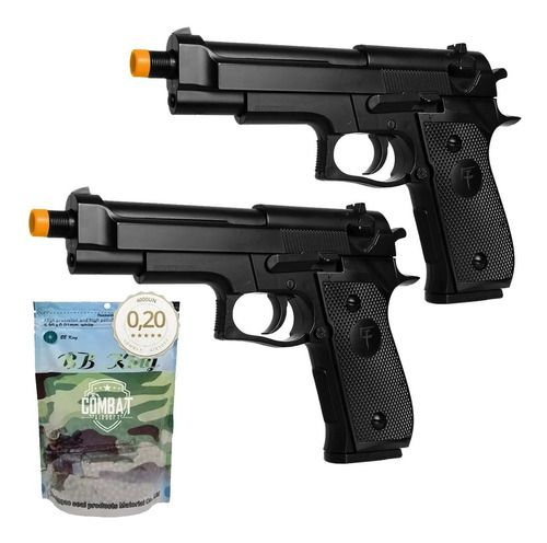 2 Pistolas Airsoft Spring Skyway Saigo 92 Beretta M92 + Bbs