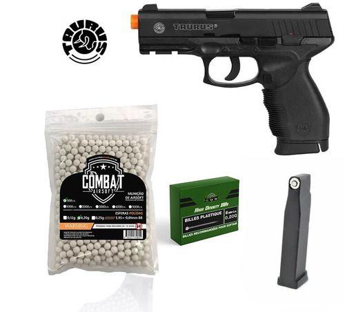 Pistola Airsoft CO2 Cybergun PT24/7 Cybergun 6mm + 500 BBs