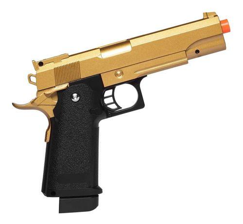 Pistola De Airsoft Spring Galaxy G6gd 1911 Hi Cap 5.1 Gold