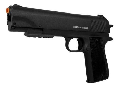 Pistola Pressão APC Qgk Fox Black Full Metal Chumbinho 5.5