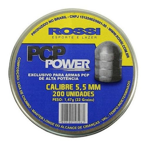 Chumbinho Rossi PCP Power 5.5mm 200un
