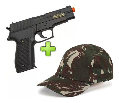 Pistola Airsoft Sig Sauer P226 Training Series Spring + Boné