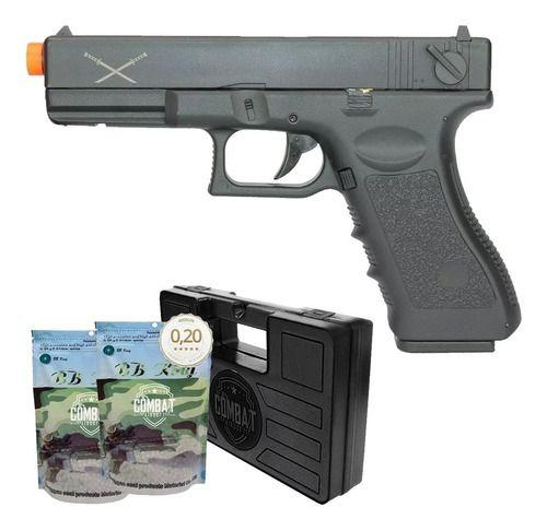 Pistola Airsoft Glock Aep Delta T Skyway Yakuza + Case + Bbs