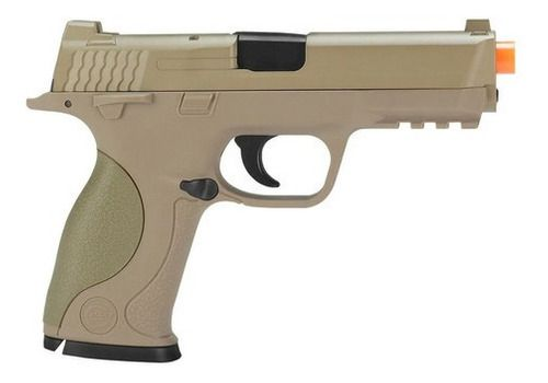 Pistola De Airsoft Spring Galaxy Mp40 G51 Desert Slide Metal