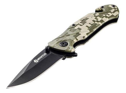 Canivete Tático Invictus Squad Camuflado