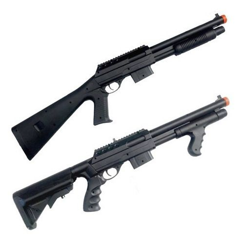 Kit Rifles Shotgun Airsoft Spring Vigor 6mm VG 0581B e 0681D