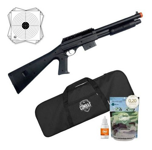 Rifle Shotgun Airsoft Spring Vigor VG 0581B 6mm + Capa + BBs