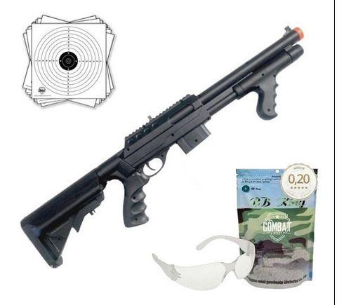 Rifle Shotgun Airsoft Spring Vigor VG 0681D 6mm + BBs + Óculos