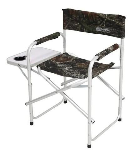 Cadeira Diretor Camping NTK Dobrável com Mesa e Porta Copo