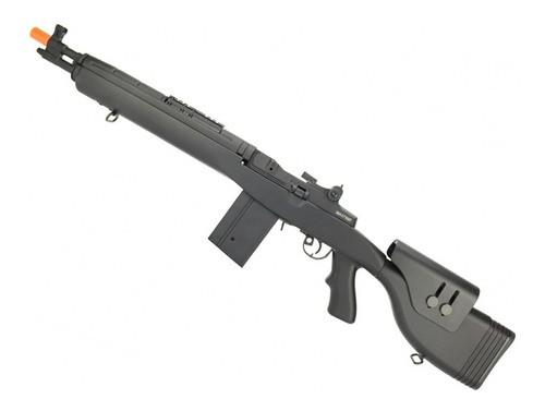 Rifle De Airsoft Elétrico Aeg Cyma Cm032f Bk M14 Dmr 6mm