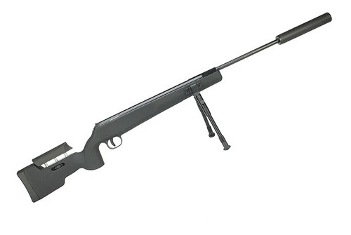 Carabina De Pressão Qgk Eagle Black Sniper 5.5mm Gás Ram 70kg