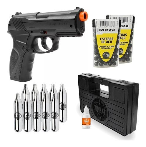 Pistola Pressão Airgun Wg Rossi C11 6.0mm + Kit Completo