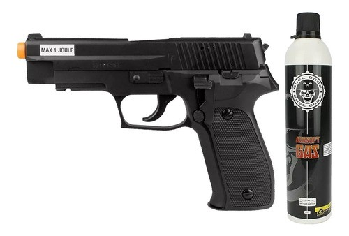 Airsoft Green Gás Pistola P226 6mm Saigo + Recarga