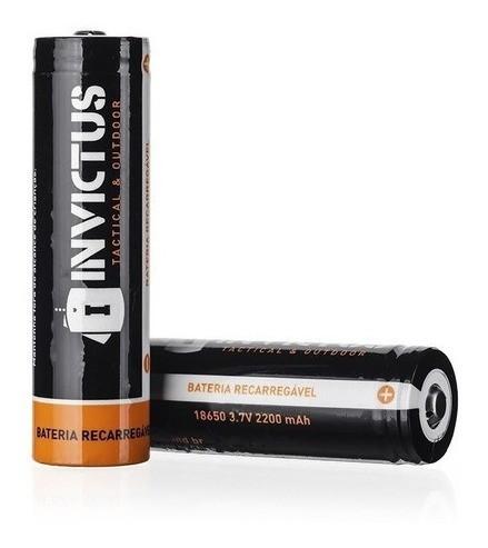 2 Baterias Recarregáveis Invictus 18650