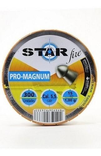 Chumbinho Star Fire Pro Magnun 5,5mm 1,00gr Box C/ - 300und