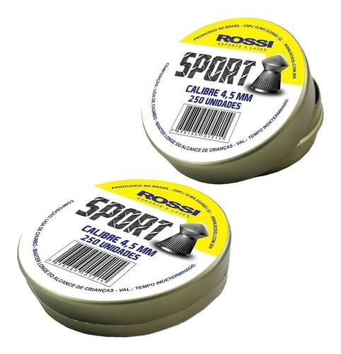 2 Latas Chumbinho Rossi Sport 4.5mm 500 Unidades
