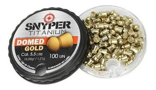 Chumbinho Snyper Titanium Domed Gold 5,5mm Alta Performance