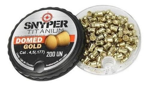 Chumbinho Snyper Titanium Domed Gold 4,5mm Alta Performance