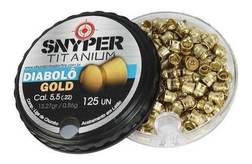 Chumbinho Snyper Diabolo Gold 5,5mm 125un