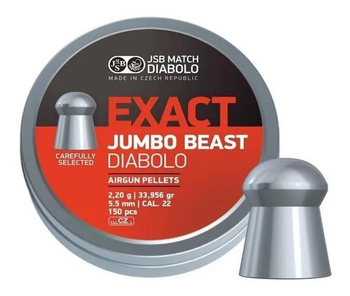 Chumbinho JSB Diabolo Exact Jumbo Beast 5.5mm 150un