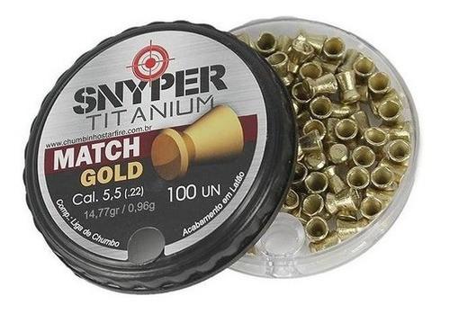 Chumbinho Snyper Titanium Match Gold 5,5mm 100un