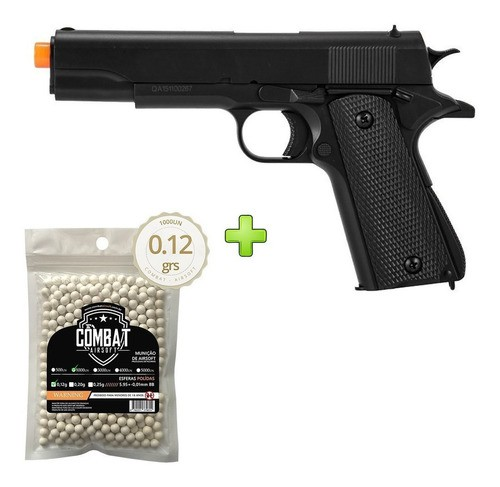 Pistola Airsoft Double Eagle M1911 M292 - +1000bbs Spring