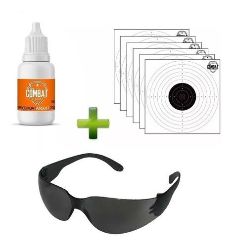 Combo Oculos + Silicone + 6 Alvos