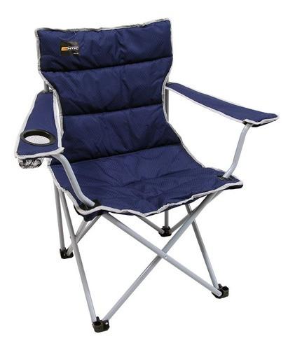 Cadeira Dobrável Boni Azul Camping Pesca Nautika + Bolsa