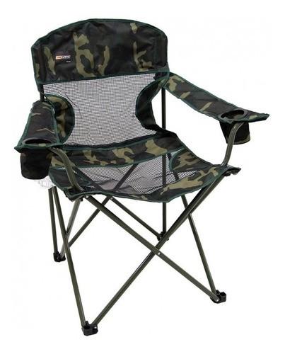 Cadeira Dobrável Fresno Com 2 Porta Copos Nautika Camuflado