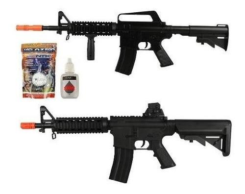Rifle Airsoft Vigor Spring M4 Cqb + Rifle M16 8905a + Esf + Oléo