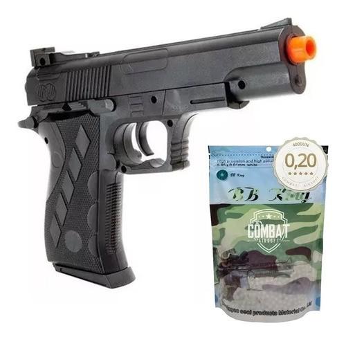Pistola Airsoft Spring 1911sw Vigor Colt 1911 + 4000 Bbs