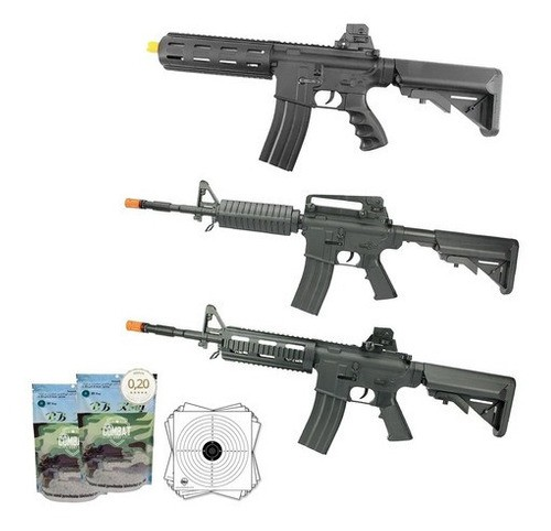 Kit Rifles Airsoft Vigor Vg M4a1 + Ar Riper + M4 Swat + Bbs
