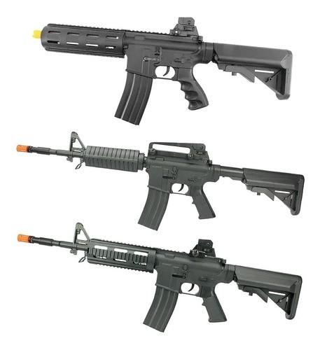 Kit Rifles Airsoft Rossi Vigor Vg M4a1 + Ar Riper + M4 Swat