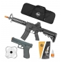Kit Airsoft Vg Spring Rifle M4 8907 + Pistola Gk V307 + Capa