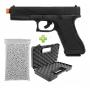 Pistola De Airsoft Spring Kwc Glock K17 + 2000 BBs + Maleta