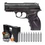 Pistola de Pressão Wingun C11 Rossi 4,5mm CO2 + 1500 Esferas + 10 cilindros CO2 + Maleta Combat + Óleo